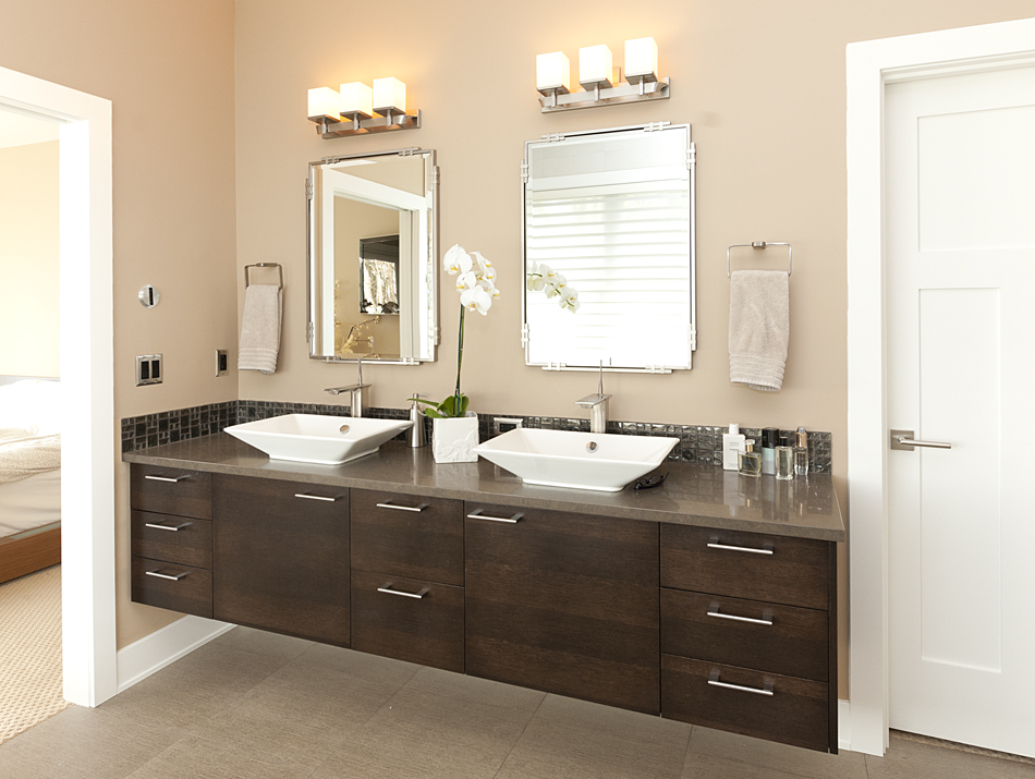 Product Details: Contemporary Master Bathroom | Aura Cabinetry | Building  Quality Kitchen Cabinets, Bathroom Vanities, Entertainment Centers,  Hutches, ...
