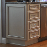 Finished Ends | Aura Cabinetry | Building Quality Kitchen Cabinets ...